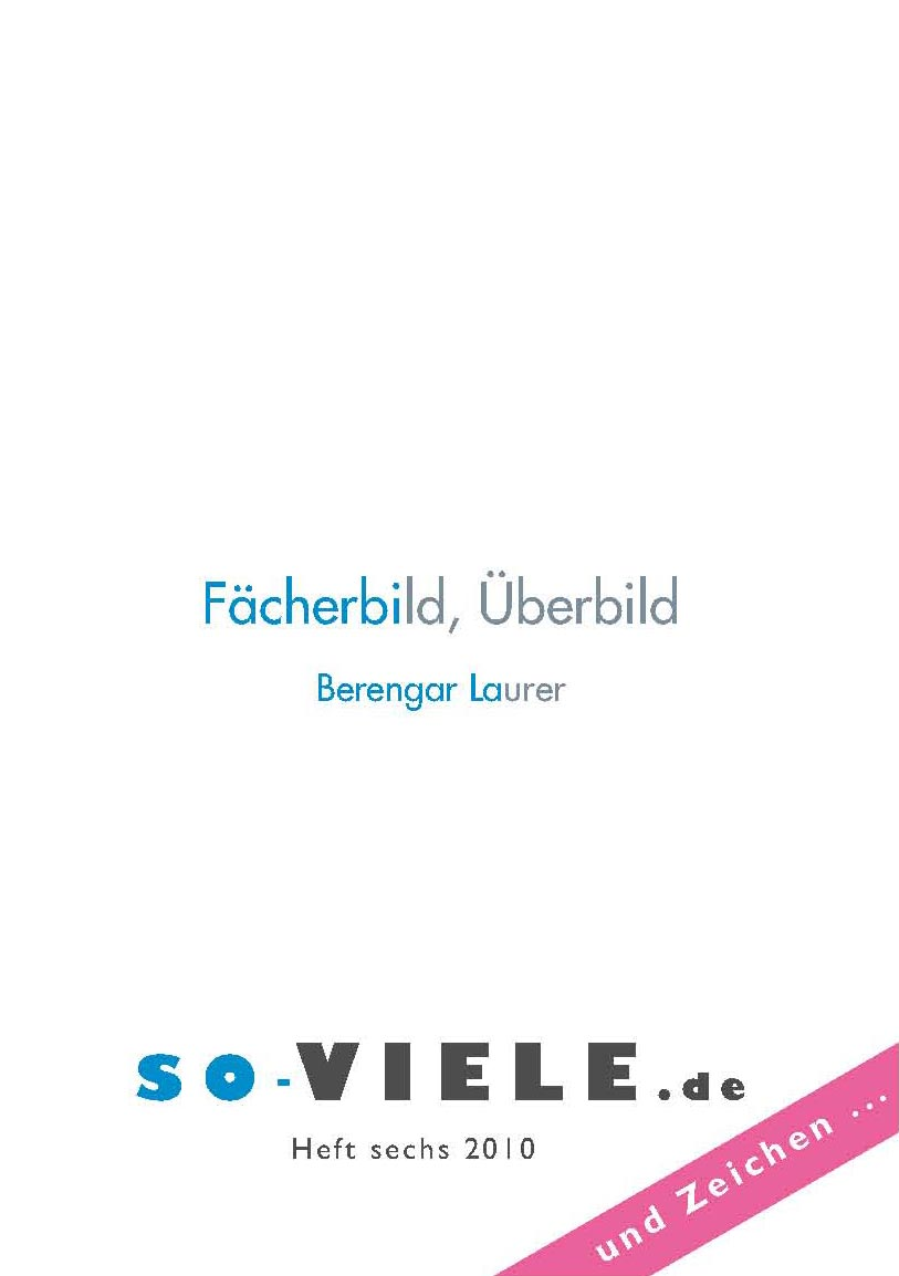 so viele Heft 6 Cover
